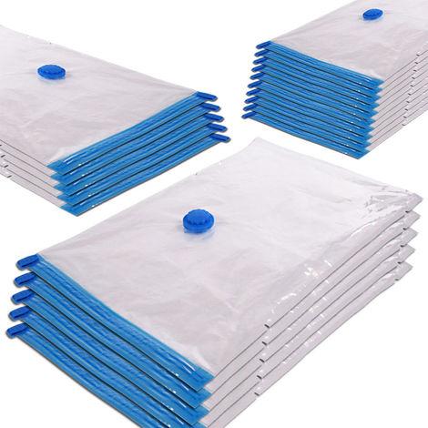20PCS sac de rangement sous vide galeux housse de rangement compresse 32*24*11cm