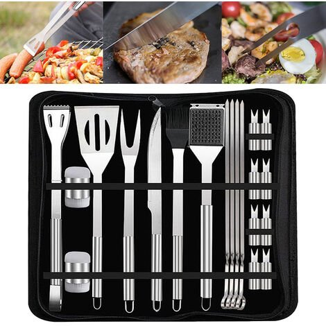 20Pcs Stainless Steel BBQ Barbecue Tool Set