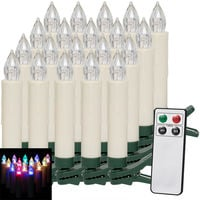 20Pieces Set Christmas Tree Candles with Remote Multi Colored