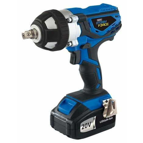Draper 82983 20V Cordless Impact Wrench with 2 LI-ION Batteries (3.0Ah)