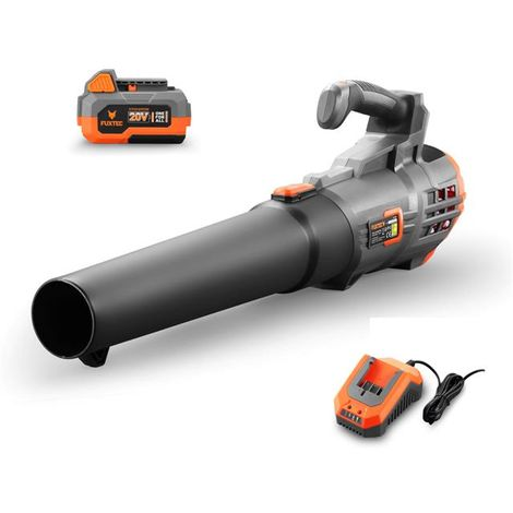 20V cordless leaf blower - Kit FUXTEC FX-E1LB20 incl. battery (4Ah) and quick charger (2.4A)