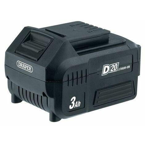 Draper 00649 20V D20 Lithium Ion Battery (3.0AH)