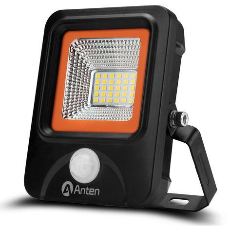 20W Foco LED Exterior con Sensor Movimiento, 2200LM, Blanco (6000-6500K), Impermeable IP66 Iluminación para Exterior y Seguridad