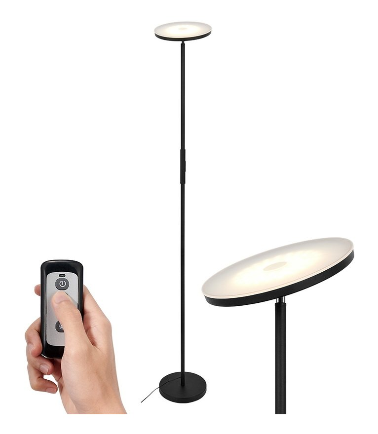 Image of 20W LED Floor Lamp Reading Light Dimmable Standing Lamp with Remote Control for Living Rooms Office Bedroom