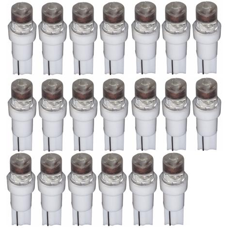 20x ampoule T5 24V LED blanc pour tableau de bord