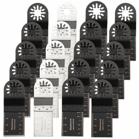 20x Lame de Scie Menuiserie Multifonction Outil Oscillant pour Dremel Fein Bosch