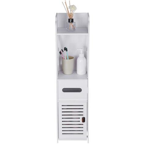 20x19.5x79.5cm bathroom cabinet bathroom vanity furniture white wood cabinet fabric storage shelf standing shelf