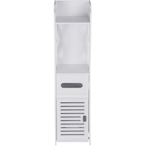 20x19.5x79.5cm Bathroom Cabinet Storage Rack Standing Shelf White