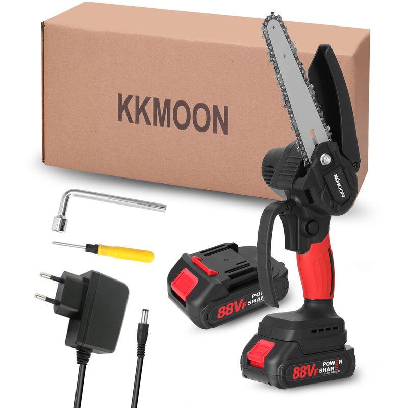 Kkmoon - 21V Mini 6 pollici Catena di carica Sega a catena da 6 pollici, 88vf domestico portatile di litio-motoseghe piccolo Giardino di lavorazione