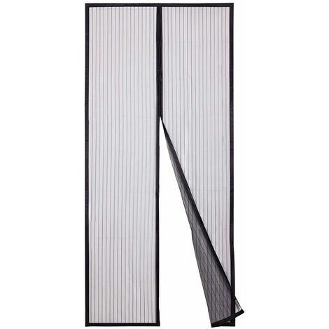 210 x 90 cm Magnet Fliegengitter Tür Insektenschutz, Magnetvorhang Ideal für die Balkontür, Kellertür und Terrassentür, Kinderleichte Klebemontage Ohne Bohren, öffnet und schließt lautlos