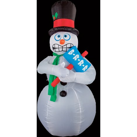 210cm Large Inflatable Shivering Snowman