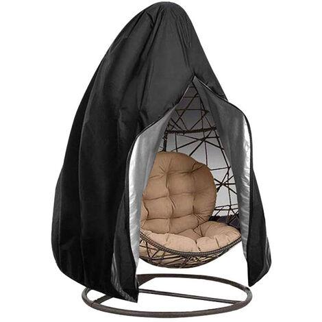 210D cubierta de la silla del huevo de la ejecucion, cubierta impermeable ligera durable de la silla del oscilacion del huevo, con cremallera