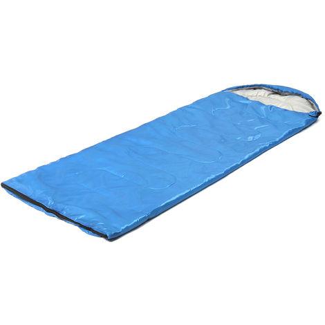 210x75cm Sac de couchage de 1 personne pour randonnée camping Bleu bleu 700 grammes