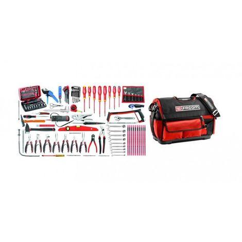 2120.E18 Sélection électronique 120 outils plus boîte à outils textile