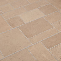 2.12m2 - Heavy Domestic and Moderate Use Kitchen/Bedroom/Hallway Laminate Flooring - Beige Tile Effect 8mm