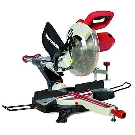 213112-Korman Scie à onglet radiale 254 mm 2000 W 230 V Rouge