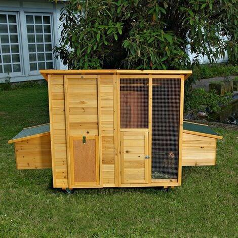 214 CM Hühnerstall Hühnerhaus Kaninchenkäfig Hasenstall Hühner Kaninchenstall
