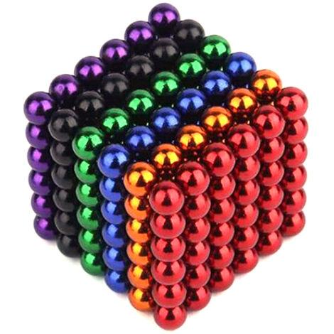 216 Bucky Ball Magic Balle Magn¨¦tique Balle Magn¨¦tique Bucky Ball Magic Cube Combinaison de 6 couleurs