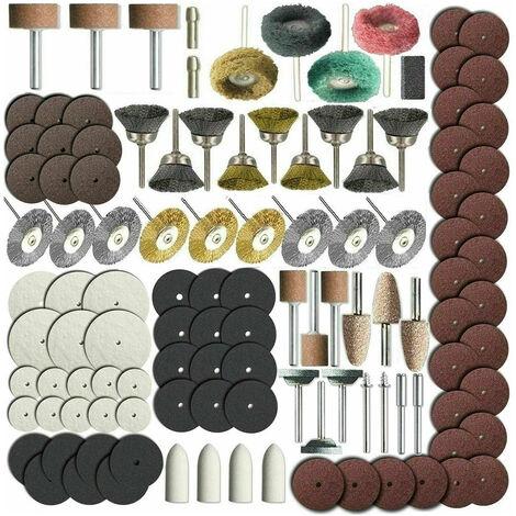 216 pieces d'accessoires pour outils rotatifs - meulage, meulage, polissage