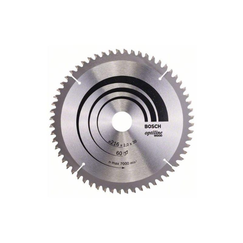 Bosch Professional Kreiss/ägeblatt Optiline Wood zum S/ägen in Holz f/ür Kapp /Ø 216 mm und Gehrungss/ägen