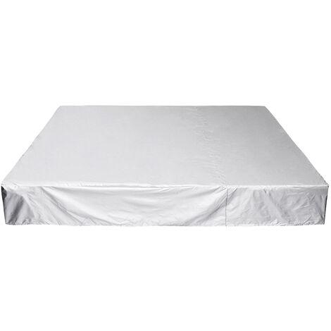 218x218x30cm Bache de protection Housse pour bain de soleil Tissu PE
