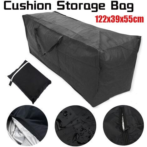 21D Oxford Cloth Outdoor Furniture Cushions Pocket Cushion Storage Bag (122x39x55cm)