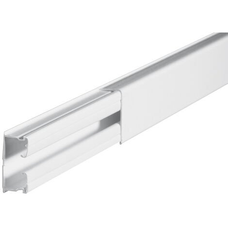 2,1m. canaleta a tornillo blanca 16x32mm. (Legrand 030804)