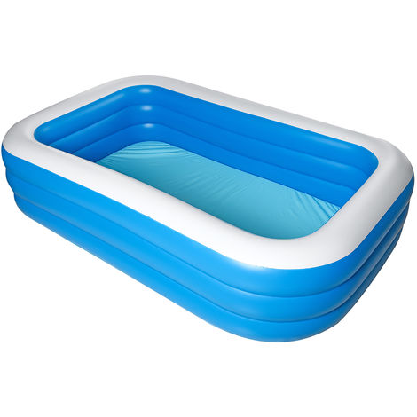 2.1m Large Inflatable Swimming Pool Outdoor Summer Home Garden Children Amusement Paddling Pool