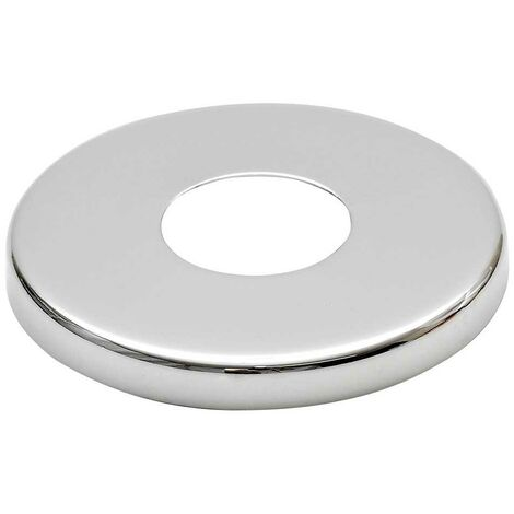 "21mm (1/2"") Collar Chrome Plated Steel Valve Tall Hole Cover Tap Rose 8mm Height"