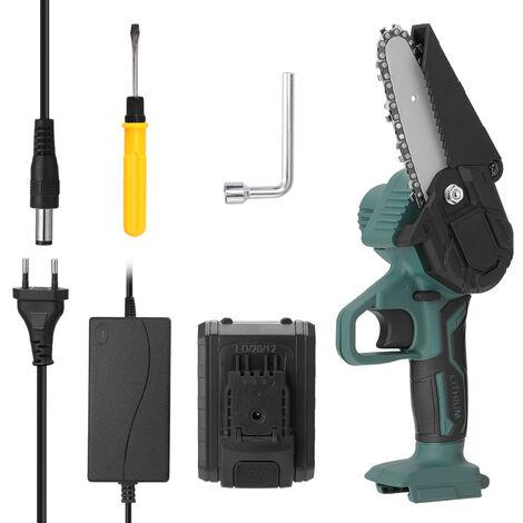 21V portatil sierra Mini electrico recargable poda pequena herramienta madera carpinteria Spliting motosierra con una sola mano para el jardin Orchard Branch videoclip