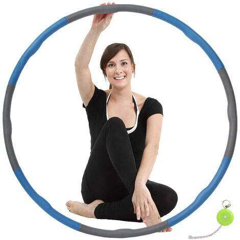 """main image of """"2.2 LB Hula Hoop Ejercicio Hula Hoop para Adultos Profesionales Fitness Hula Hoop para Pérdida de Peso-8 Sección Desmontable - Color Aleatorio"""""""