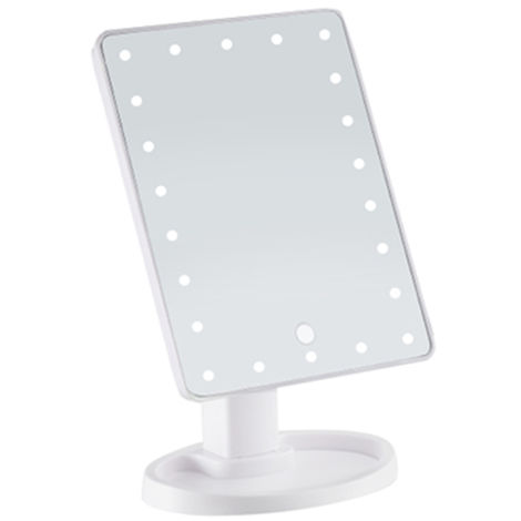 22 LED Touch Screen Illuminated Vanity Mirror 360 ° Rotating Cosmetic Makeup Mirror