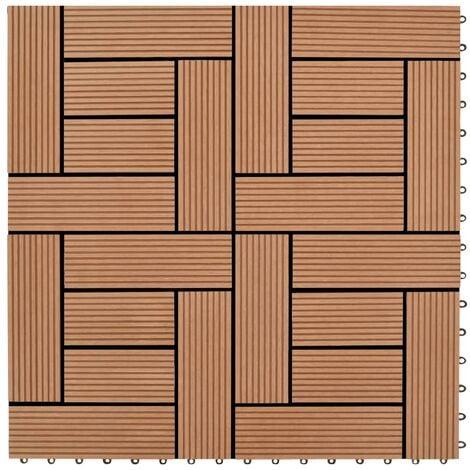 22 pcs Decking Tiles 30x30 cm 2 sqm WPC Black