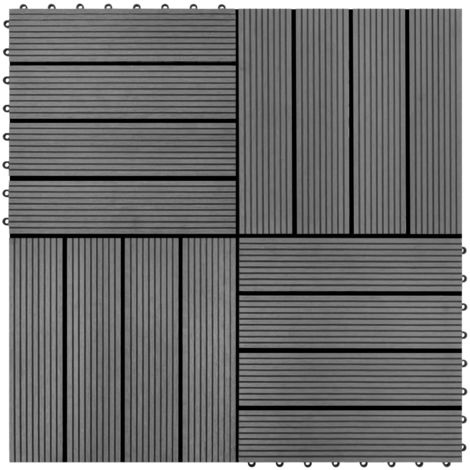 22 pcs Decking Tiles 30x30 cm 2 sqm WPC Teak Colour