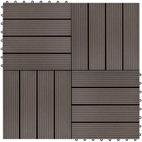 22 pcs Decking Tiles 30x30cm 2 sqm WPC Brown