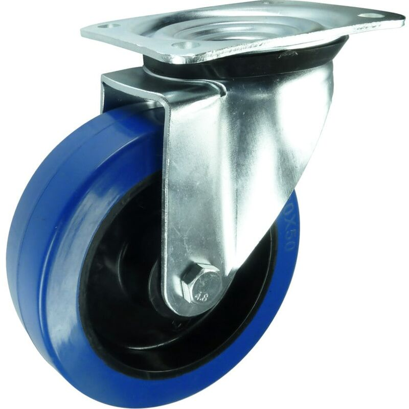 Image of 22 Ser' Swivel Plate Nylon/Rubber Castor 150MM - Flexello