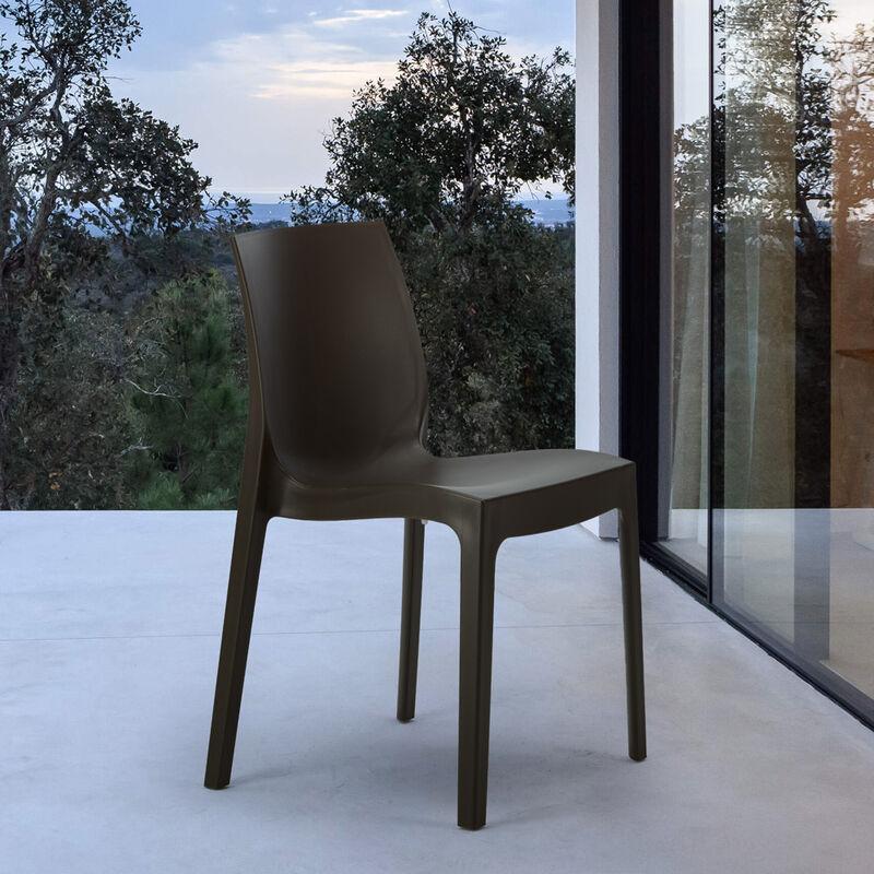 22 Stück Stühle Küchenstuhl Esstischstuhl Esszimmerstuhl Grand Soleil ROME  | Braun   S6217MK22PZ