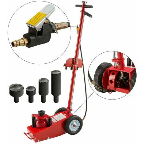 22 T Hydraulic Air Floor Jack Trolley Lift Professional Jack