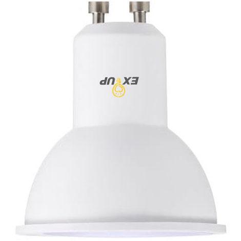 220-240 Bombillas de luz LED, 7W, GU10, bulbo del proyector LED, Blanco, 1Pc
