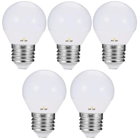 220-240V Ampoules Led 7W E27 Led Spotlight Ampoule Lampe Globe Ampoules Led Filament Interieur Givre Ampoule Pour L'Eclairage De Plafond Blanc Chaud 5Pcs