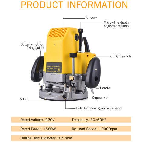 220 router de madera electrico maquina de grabado del condensador de ajuste de elaboracion de la madera fresadora para cortar muescas en que ranura