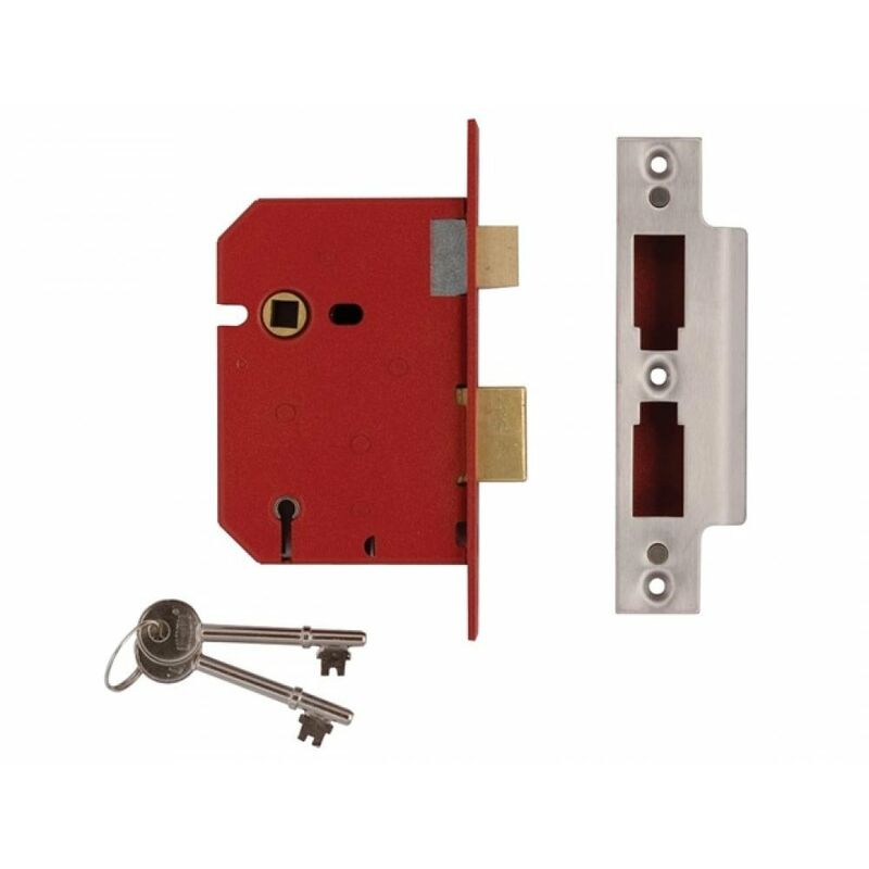 "2 Lever Sashlock Mortice 2.5/""//63mm Lock Bathroom Internal Doors British Standard"