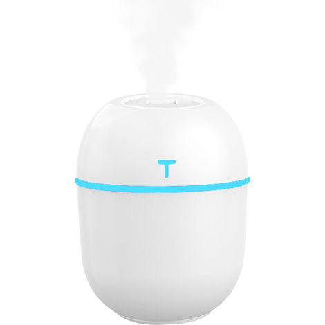 220mL Quiet Mist Humidifier Diffuser LED Colorful Essential Oil Diffuser Top Fill Humidifier