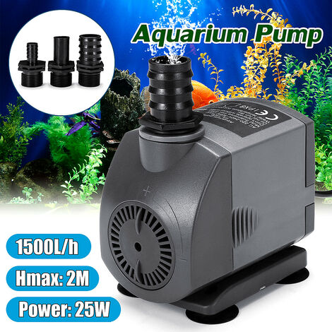 "main image of ""220V 25W 1500L / h Bomba de agua sumergible ultra silenciosa Pr Fuente Acuario Estanque"""