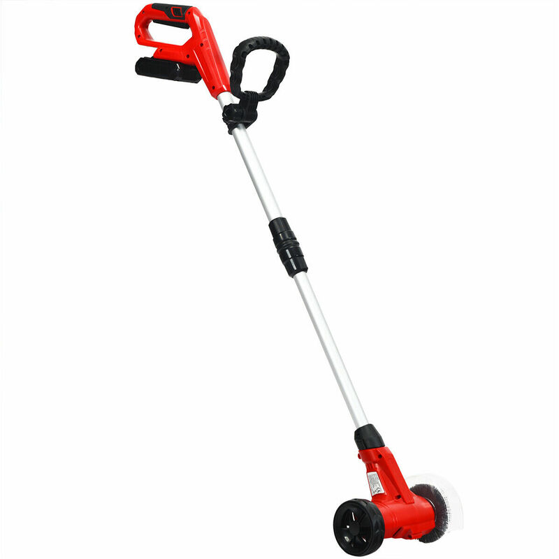 Image of 220V Cordless Weed Sweeper Electric Weed Cleaner Adjustable Telescopic Handle - COSTWAY