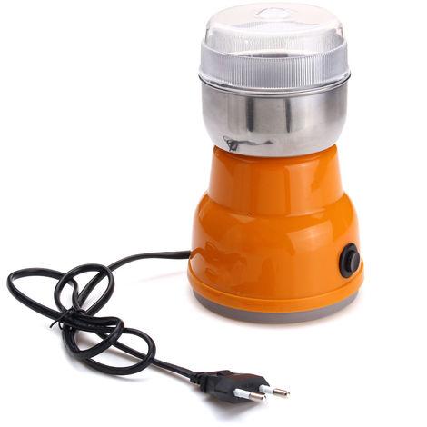 220V Mini hogar Molinillo eléctrico Molino Fresadora de café semiautomático Hierbas / Especias / Nueces / Frijoles / Acero Molinillo de café Accesorios de cocina
