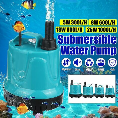 220V silent submersible water oil fuel pump boats swimming pool motor nozzles for aquarium fish pond (8W 600L / H)