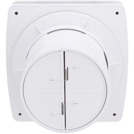 220V Ventilateur Fenêtre Faible Bruit Salle de Bains Cuisine Toilettes 4 pouce Sasicare