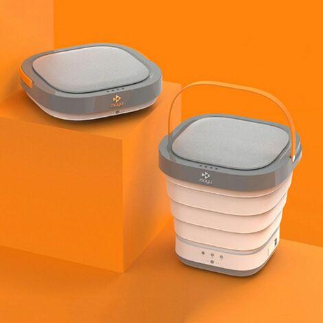220V voyage Portable Mini Machine à laver pliante seau de lavage automatique petit ménage sous-vêtements vêtements laveuse blanchisserie pour les affaires auto-conduite Tour