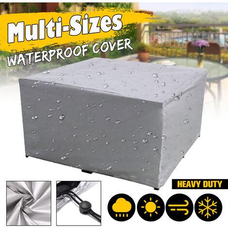 220x220x85cm Housse de meuble en PVC couvre le cube de table en rotin de patio imperméable